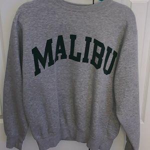 Grey Malibu brandy sweater
